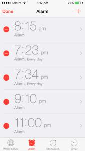 set iphone alarm
